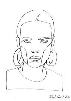 "Boris Schmitz Portfolio — ""Gaze continuous line drawing by Boris. Single Line Drawing, Continuous Line Drawing, Art Sketches, Art Drawings, Drawing Faces, Contour Line Drawing, Contour Drawings, Drawing Tips, Art Visage"
