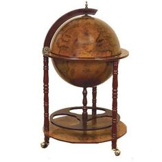 Antique Reproduction Sixteenth Century Italian Old World Globe Mini Bar