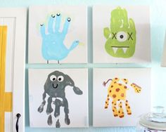 KIDS' HANDPRINT ART