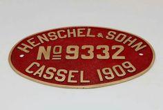 Henschel & Sohn Steel Plate Sign via Fundação Museu Nacional Ferroviário FMNF (PT) - Railway/Train National Museum