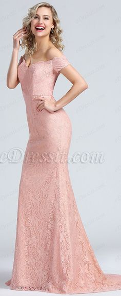 c59810c4a2ea Elegant Off Shoulder Lace Evening Gown #eDressit Lace Evening Gowns, Party  Clothes, Quinceanera