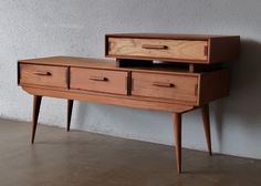 Vintage Sideboard with an Upper Drawer