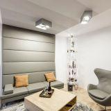 realizacja: SOPHA tapicerowana ściana i siedzisko, fotel na stopie projekt: NOKE
