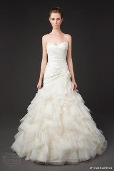 winnie couture bridal 2014 diamond label 3197 bernadette strapless a line wedding dress