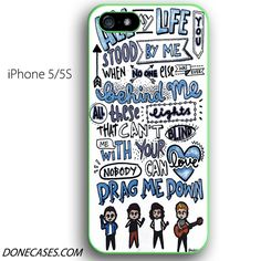one direction drag me down lyric collage iphone 5 5s case