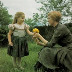 """""""The Sound of Music"""", 1965 ~ This is a photo of Gretel (Kym Karath) and Maria (Julie Andrews). Julie Andrews, My Fair Lady, Old Movies, Great Movies, Movies Showing, Movies And Tv Shows, Sound Of Music Movie, Film Serie, Classic Movies"""