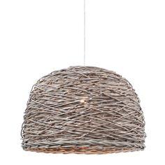 Rotan Crazy Weave Pendant | Light
