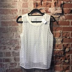 LAST CHANCE ‼️ Ann Taylor LOFT Cut Out Tank  Lowest price unless bundled!  Brand new with tags! Color: Off White. Cut out front and solid back.  Happy Poshing! (✖️ trade) LOFT Tops Tank Tops
