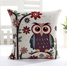 Edtoy Sofa Pillow Covers Pillowcase Chair Pad Pouch Throw Pillowslip for Home Office Wedding Christmas Party DecorOwl style6 * Be sure to check out this awesome product.