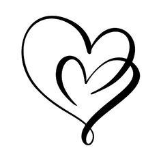 Tattoo Set, I Tattoo, Hart Tattoo, Herz Tattoo Klein, Shoulder Tattoos For Women, Heart Tattoo Designs, Heart Logo, Tattoos For Daughters, Love Symbols