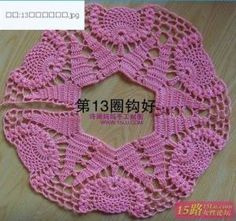 Do not miss this pattern to make a crochet jacket in pink thread, or another color of your preference. With the step by step learn how to make a crochet jacket, very nice for a gift or for your little daughter. Crochet Bolero, Crochet Baby Sweater Pattern, Crochet Lace Collar, Crochet Baby Sweaters, Sweater Knitting Patterns, Crochet Blanket Patterns, Crochet Clothes, Diy Crafts Knitting, Diy Crafts Crochet