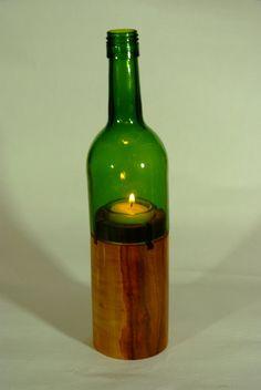 Windlicht Weinflasche  Windlight wine bottle von Pictureful auf Etsy, €39.00