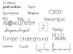 Single line fonts for pens used in digital die cutters
