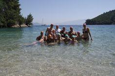 Week 2 swimmers on Skorpios Island