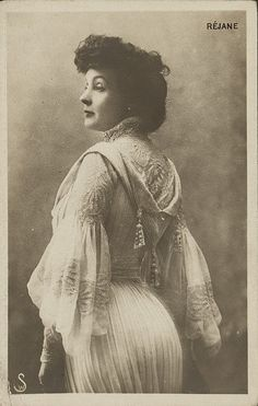 I'm not certain of who this captivating Edwardian woman was, but she very likely may have been a stage actress.