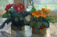 Flowers on the Window Sill - Ludmilla Perec