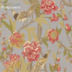 Devon is a remarkable wallpaper which displays layers of design to create the illusion of depth. With excellent colour choices used to illustrate the beauty of cooing birds, flourishing flowers and bending branches, Devon is a charming addition to Thibaut's Shangri-La collection.
