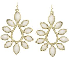 Nyla earrings in white by Kendra Scott Jewelry, available at Nordstrom, $95.