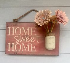 Home Sweet Home Rustic Outdoor Sign Front Porch von RedRoanSigns