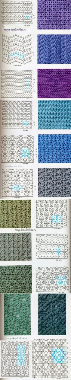 98 patterns and motifs, crocheted