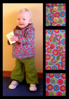 Funky Colorful Floral Cord Jacket by HandmadebyAgapantha on Etsy