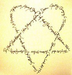 "Ville Valo's handwriting of lyrics on the last song on the ""Screamworks"" album"