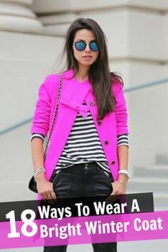 how to wear a bright winter coat