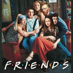 #dancretu  #friends Memes Arte, Art Memes, Cultura Pop, Photomontage, Caricature Artist, Pop Culture Art, Arte Pop, Classical Art, Funny Art