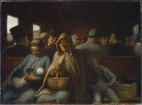 Honoré Daumier - Le wagon de troisième classe