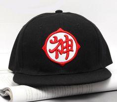 c066925ea9b Dragon Ball Kami Guardian God Kanji Hip Hop Snapback Hat Cap Black   dragonball  kanji