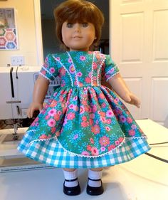 American Girl Doll Clothes  1850's dress pattern