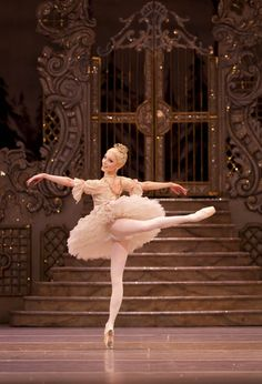 "Royal Ballet principal dancer Sarah Lamb dances as the Sugar Plum Fairy in ""The Nutcracker"" at the Royal Opera House."