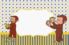 Curious George Birthday party free printable invitation pinata how