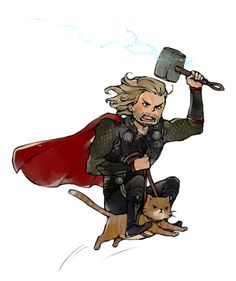 THOR ON A CAT