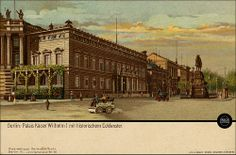 Berlin - Palais Kaiser Wilhelm I. (Altes Palais) - Werbung Warenhaus Hermann Tietz um 1900