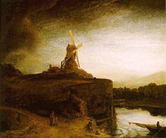 Rembrandt__Mill clip art di quadri_famosi