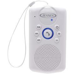 Jensen Smps-640 Water-resistant Bluetooth Hands-free Shower Speaker