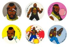 Scratch n' Sniff - Mr T in flavors: Bandage, Body Odor, Bubble Gum, Rose, Smoke, Tire