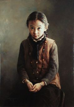 Zhao Kailin | Portrait of a girl :: Odon Wagner Gallery, Toronto, Canada