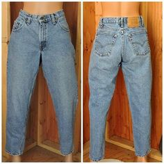 Vintage Levis 560 high waisted loose fit tapered leg / 28 X 29 / medium wash high waist mom jeans
