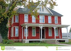 what is folk victorian architecture | ... red home with an ornate porch. Early 1900s American architecture
