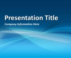 Blue Background PowerPoint Template