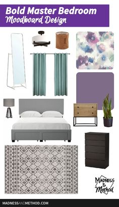 These new master bedroom plans are bold and colourful!  Check out the before photos and read about the project we're doing for the Spring One Room Challenge. Master Bedroom Plans, Kids Bedroom, Bedroom Decor, Garage Makeover, Buying A New Home, Nursery Neutral, Maine House, Guest Bedrooms, Home Organization