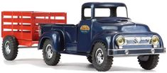 1957 Tonka Toys Number 28 Pickup Truck Stake Trailer and Animal Boxed Set 500px.jpg (500×219)