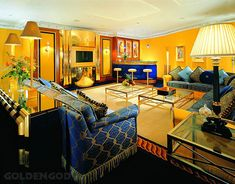 Бурдж Аль Араб. Интерьер номера - комната отдыха