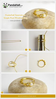 Simple Pearl Winding Ring - This is a very simple ring tutorial. We use aluminum wires to make the main part of the ring, dotted with small, cute white pearls in the middle of the ring, and the ring is finished. Diy Beaded Rings, Wire Jewelry Rings, Wire Jewelry Designs, Diy Rings, Handmade Beaded Jewelry, Wire Wrapped Jewelry, Diy Jewellery Wire, Diy Pearl Rings, Metal Jewelry