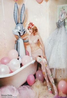 Bunnies and Butterflies and Bubbles and lingerie