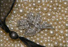 Pearls and rhinestones.