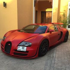 Matte Red Bugatti  - cc: @LuxuryLifeFashion  Photo by @M7mad.7