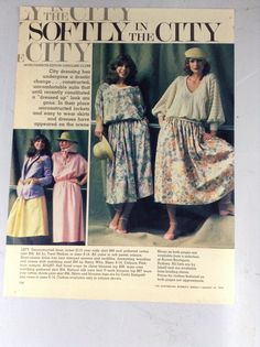 Tear sheets magazine, 'Softly in the City', paper, photography by David Mist, The Australian Women's Weekly August 23 Dress Skirt, Dress Up, City Style, Fashion Editor, Mists, Scene, 1980s, Photographs, How To Wear